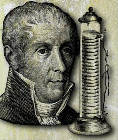 Uma das maiores invenções de Alessandro Volta foi a pilha elétrica