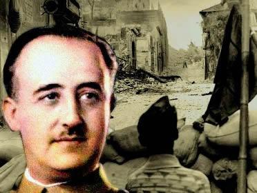 Com o apoio nazi-fascista, o general Francisco Franco venceu a Guerra Civil Espanhola.