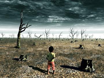 A seca pode trazer consequências graves, tais como escassez de água e incêndios