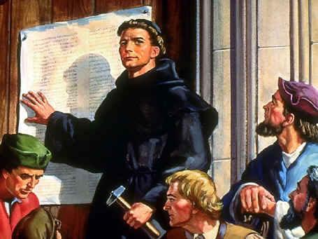 Martin Lutero foi o líder deste movimento que deu início a diversos rompimentos com a Igreja Católica.