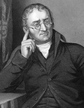 John Dalton buscava determinar a natureza fundamental da matéria