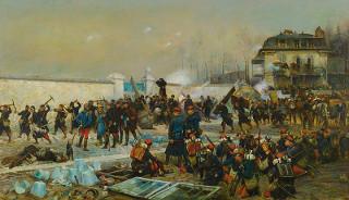 Quadro Champigny, Dezembro de 1870, de Édouard Detaille (1848-1912), mostrando uma cena da Guerra Franco-Prussiana