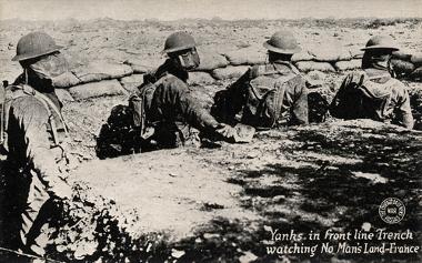 Na Primeira Guerra Mundial, os soldados usavam máscaras para proteger-se dos gases tóxicos*