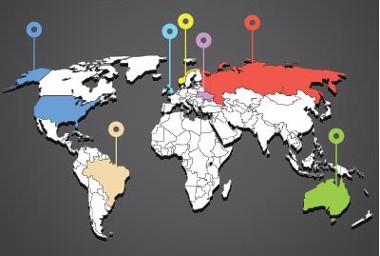 É possível obter algumas informações sobre os diferentes países existentes