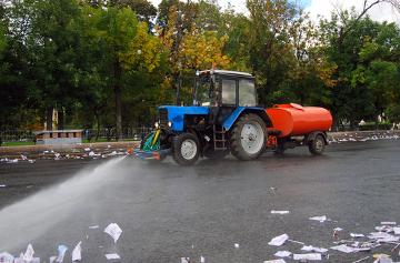 A água de reúso pode ser utilizada para lavar as ruas
