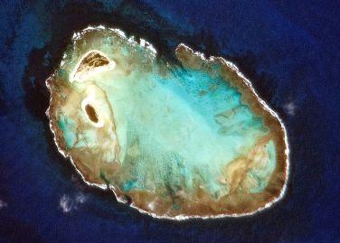 Imagem aérea do Atol das Rocas