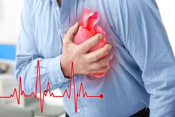 No infarto, ocorre a redução do fluxo sanguíneo para o músculo do coração.