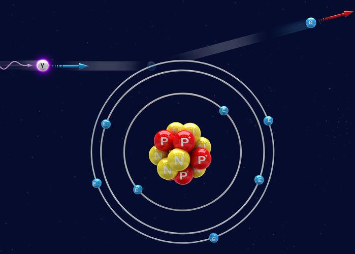 Os raios gama interagem com a matéria arrancando-lhe elétrons.