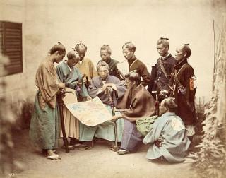 Samurais do clã Choshu durante a Guerra Boshin