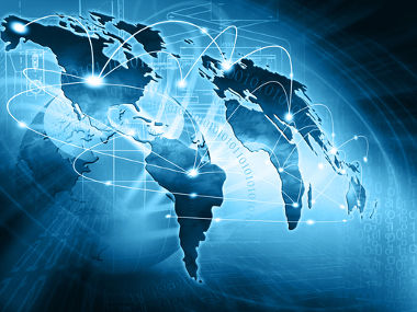 As redes geográficas estruturam-se, atualmente, em nível global