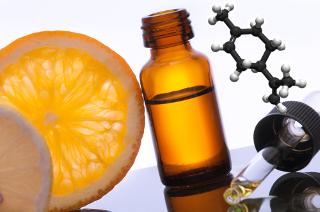 O limoneno, um óleo essencial extraído da casca da laranja e do limão, é um alcadieno
