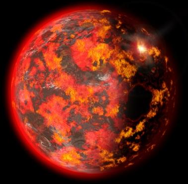 Esquema ilustrativo sobre a formação da Terra
