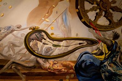 Salvador Dalí foi um dos maiores nomes do surrealismo nas artes plásticas. Detalhe de uma de suas obras no Museu Dalí em Figueras, Espanha.*