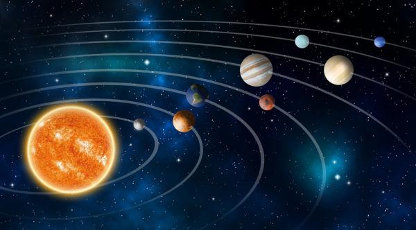 O Sistema Solar é composto por oito planetas e localiza-se na Via Láctea.