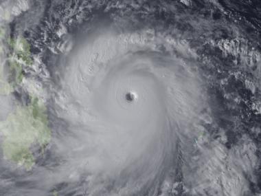 Imagem de satélite do tufão Haiyan, um dos mais devastadores da história das Filipinas