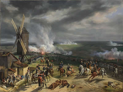 Tela de Jean-Baptiste Mauzaisse (1784-1844), A Batalha de Valmy, de 20 de setembro de 1792
