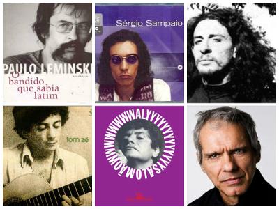 """Paulo Leminski, Sérgio Sampaio, Torquato Neto, Tom Zé, Waly Salomão e Chacal: representantes da """"cultura marginal"""" *"""