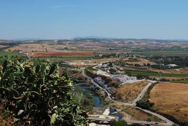 Rio Guadalete, em Arcos de la Frontera, possível localização da batalha de Guadalete