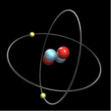 A emissão alfa ioniza os gases do ar, capturando dois elétrons e se transformando num átomo de hélio, como o da figura