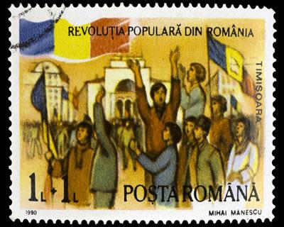 Selo comemorativo da revolta de Timisoara, que deu início a Revolução Romena.*