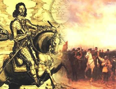 Oliver Cromwell: um dos principais líderes da guerra civil que derrubou o poder monárquico inglês.