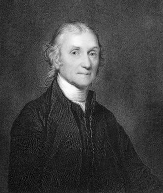 Joseph Priestley foi muito importante na descoberta da fotossíntese e da respiração