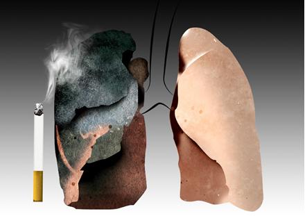 O alcatrão é um dos principais constituintes do cigarro, sendo que ele contribui em muito para o desenvolvimento do câncer
