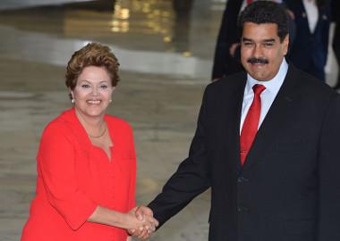 Nicolás Maduro, presidente da Venezuela, ao lado de Dilma Rousseff ¹