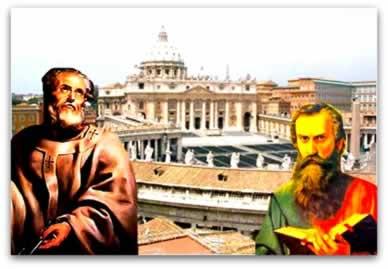 Após a morte de Cristo, os apóstolos Pedro e Paulo foram os principais divulgadores do cristianismo