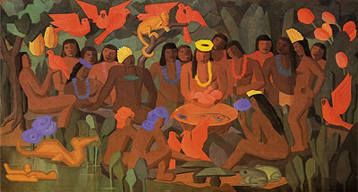 O batizado de Macunaíma, Tarsila do Amaral.