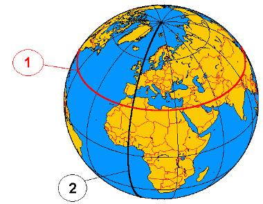 Paralelos e meridianos: linhas imaginárias traçadas sobre a Terra