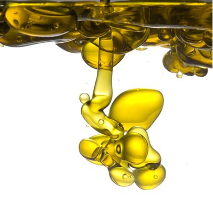 A água e o óleo não se misturam porque as moléculas do óleo não conseguem vencer a força das ligações de hidrogênio entre as moléculas de água