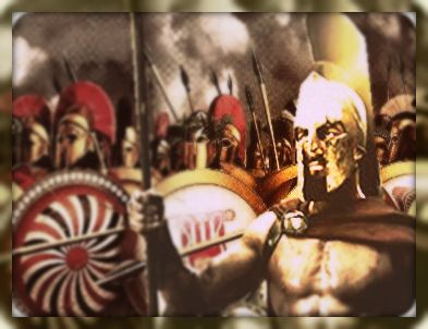 O conflito entre gregos e persas.