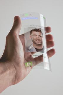 Uma das possíveis aplicações do grafeno seria em telas flexíveis, inquebráveis e sensíveis ao toque