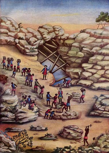 A atividade mineradora no Brasil só se efetivou no século XVIII *