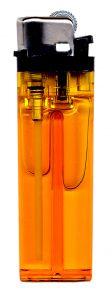 Devido à alta pressão, dentro do isqueiro podemos encontrar o butano nos estados líquido e gasoso