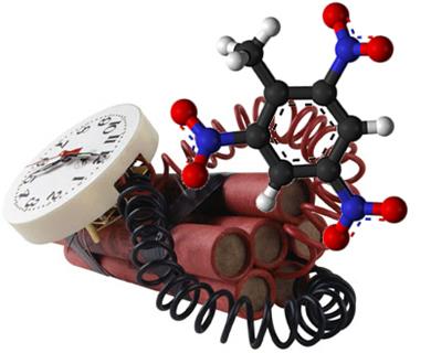 O TNT é um composto resultante de reação de nitração do metilbenzeno