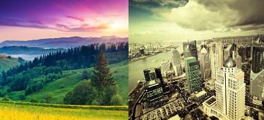 A paisagem natural e a paisagem cultural expressas no espaço