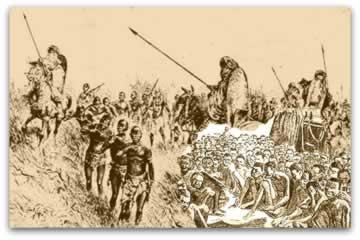 Da captura de escravos no interior do território ao comércio de escravos nos navios negreiros