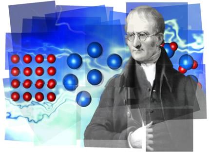 As ideias de John Dalton deram origem à primeira teoria atômica moderna
