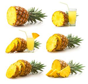O abacaxi é rico em vitaminas C, B1, B6, ferro, magnésio e fibras.