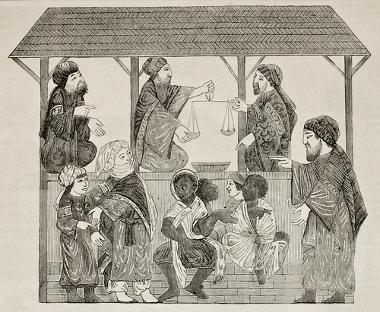 Comércio de escravos em Bagdá (Iraque), no século XIII