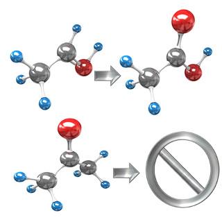 Na oxidação de aldeídos e cetonas, somente os aldeídos reagem