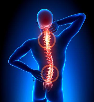 As dores nas costas muitas vezes estão relacionadas com a má postura
