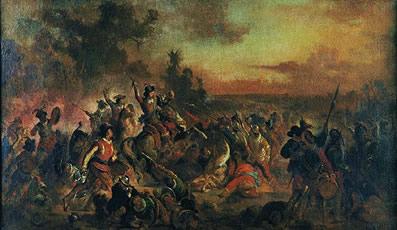 Batalha dos Guararapes – quadro de Victor Meirelles (1832-1903) retratando o principal conflito da Insurreição Pernambucana