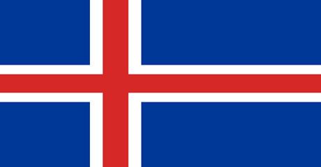 Bandeira da Islândia.