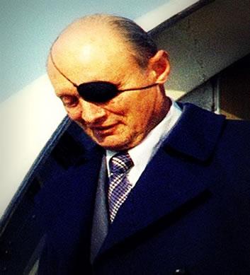 Moshe Dayan, o líder militar que coordenou os ataques israelitas na Guerra dos Seis Dias