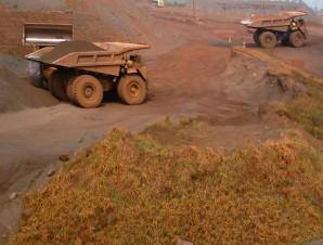 Área de mineração na Serra dos Carajás, nesse local é extraído minério de ferro formado em escudos cristalinos.