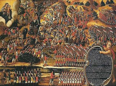 Peça votiva conhecida como Batalha dos Guararapes