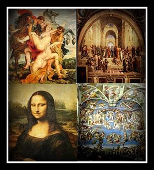 Os princípios racionais e matemáticos prevaleceram nas pinturas renascentistas.